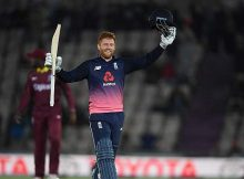 Bairstow 's 141 runs helped England finish the home season on a high against West Indies