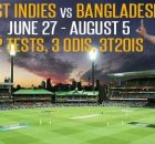 Bangladesh vs West Indies 2018